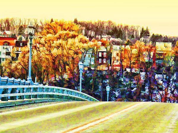 Art: Pittsburgh Bridge by Artist Carolyn Schiffhouer
