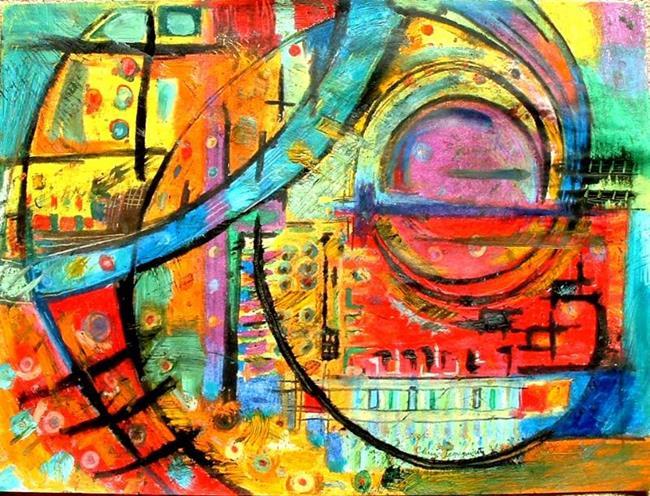 Art: Sunset in the City by Artist Chris Jeanguenat