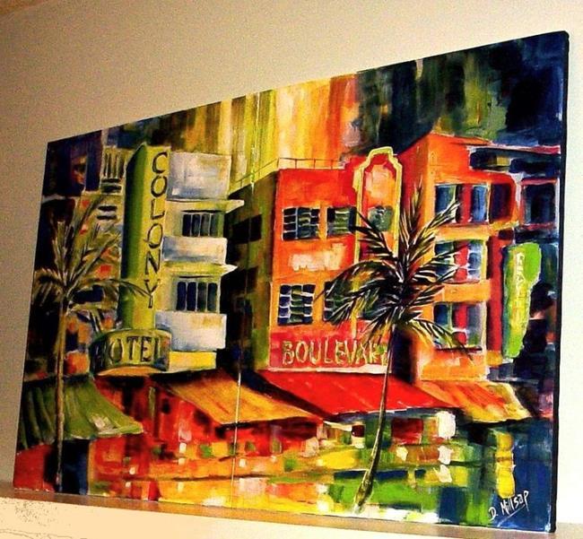 Art: South Beach Strip - Diptych by Artist Diane Millsap
