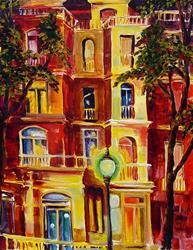 Art: Apartment House by Artist Diane Millsap