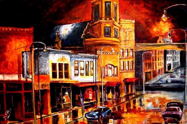 Art: Rainy Streets by Artist Diane Millsap