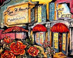 Art: Paris Flower Market by Artist Diane Millsap