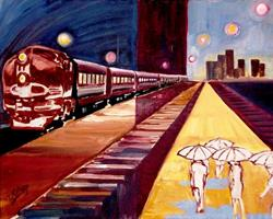 Art: Night Train by Artist Diane Millsap