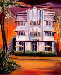 Art: Hotel Marlin by Artist Diane Millsap