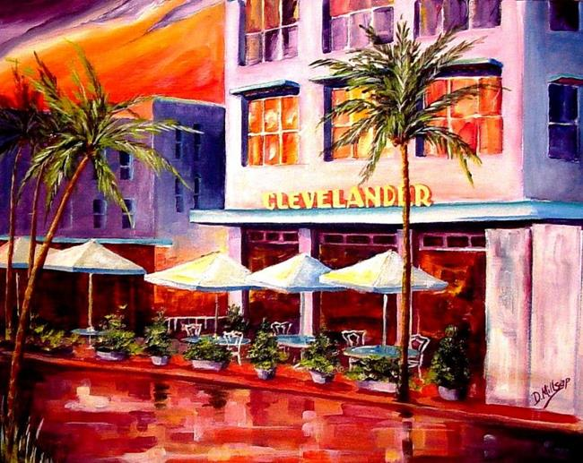 Art: South Beach Hotel by Artist Diane Millsap