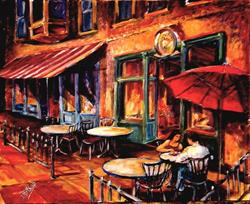 Art: Late Night Supper by Artist Diane Millsap