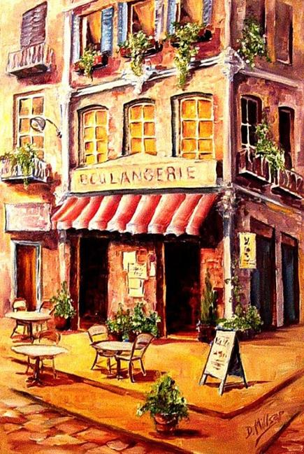 Art: French Cafe by Artist Diane Millsap