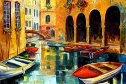 Art: Canal in Venice by Artist Diane Millsap