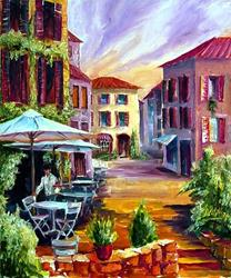 Art: French Country Cafe by Artist Diane Millsap