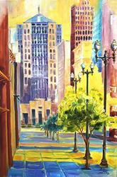 Art: Dawn in the City by Artist Diane Millsap