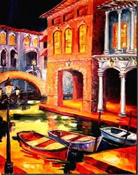 Art: Night in Venice by Artist Diane Millsap
