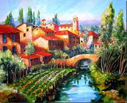 Art: River Through Tuscany by Artist Diane Millsap