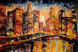 Art: City by the Lake by Artist Diane Millsap