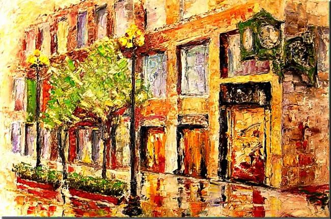 Art: Rainy Day in Chicago by Artist Diane Millsap