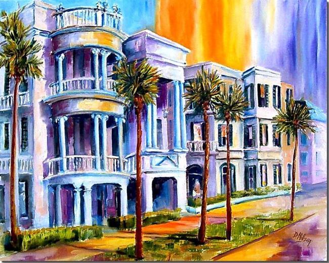 Art: Charleston Sunset by Artist Diane Millsap