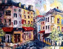 Art: Street in Paris - SOLD by Artist Diane Millsap