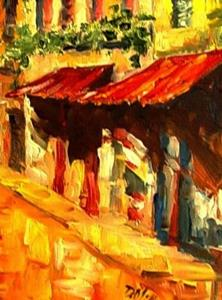 Detail Image for art Village Street - SOLD