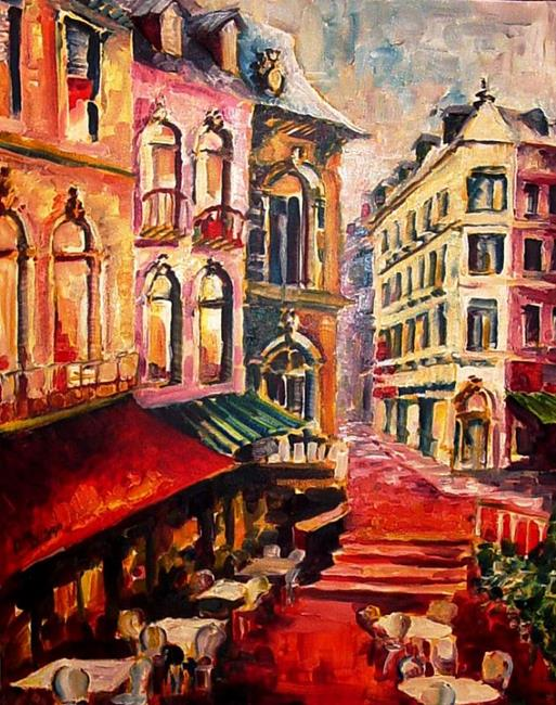 Art: Sidewalk Cafe - SOLD by Artist Diane Millsap