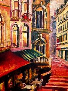 Detail Image for art Sidewalk Cafe - SOLD
