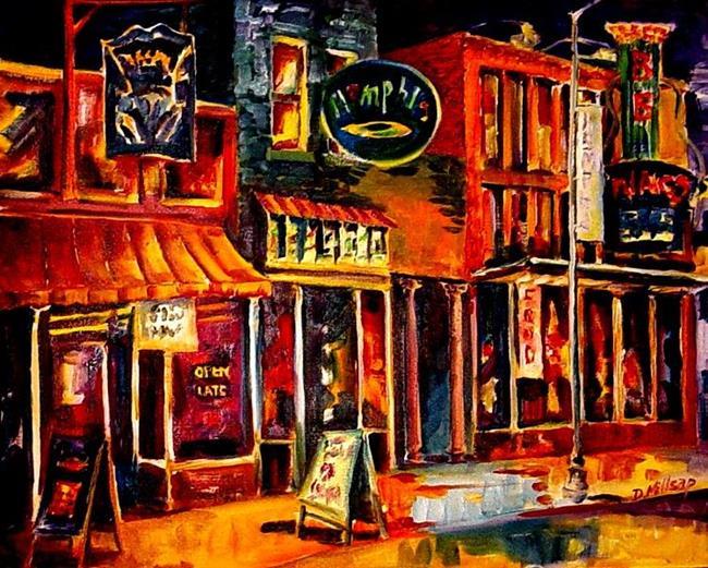Art: Beale Street Blues - SOLD by Artist Diane Millsap