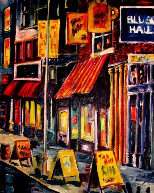Art: Home of the Blues - SOLD by Artist Diane Millsap