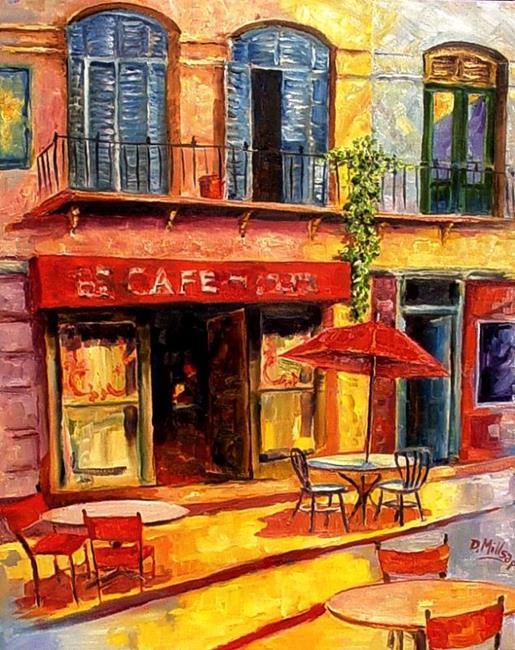 Art: Cafe - SOLD by Artist Diane Millsap