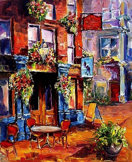 Art: Early Morning Cafe by Artist Diane Millsap