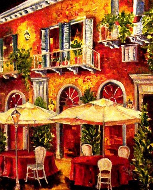 Art: Midnight Cafe by Artist Diane Millsap
