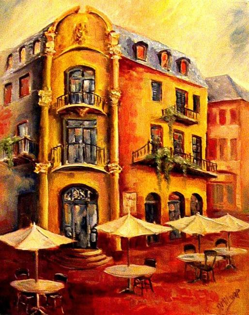 Art: Hotel Cafe by Artist Diane Millsap