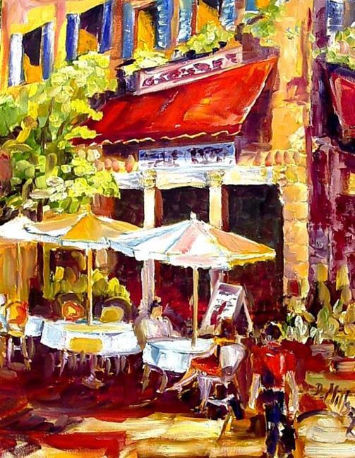 Art: french Cafe Scene by Artist Diane Millsap