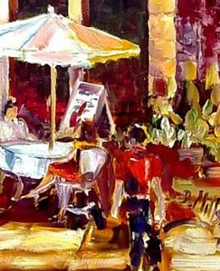 Detail Image for art french Cafe Scene