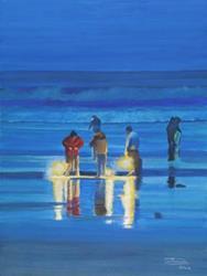 Art: Night Dig by Artist Carol Thompson