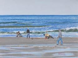 Art: A Good Day For Clamming by Artist Carol Thompson