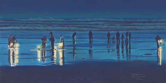 Art: Digging After Dark by Artist Carol Thompson
