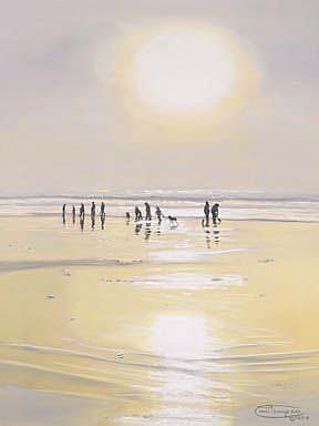 Art: Clamming Under The Sun by Artist Carol Thompson