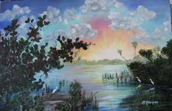 Art: IBIS ISLAND -Sold by Artist Ke Robinson