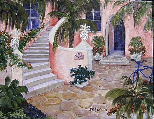 Art: 1931 Pineapple Grove by Artist Ke Robinson