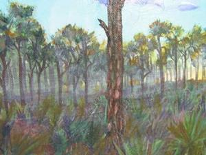 Detail Image for art FOGGY PINES - sold