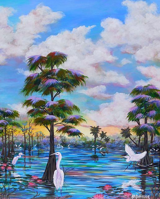 Art: Florida Everglades II  30x24 by Artist Ke Robinson