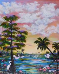 Art: Florida Everglades III 30x24 by Artist Ke Robinson