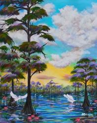 Art: Florida Everglades I 24x30 by Artist Ke Robinson