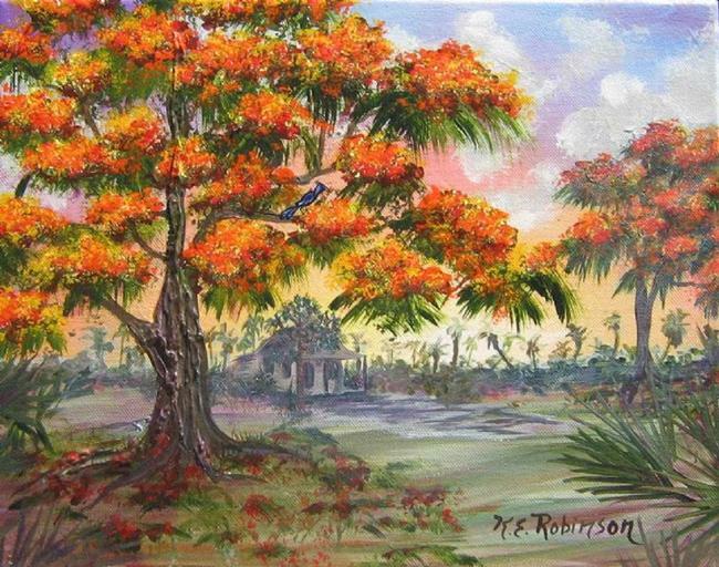 Art: Royal Poinciana Tree sold by Artist Ke Robinson