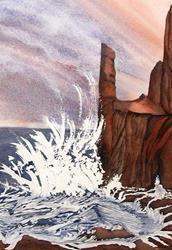 Art: Study of Storm of St. Govan - NFS by Artist Shari Lynn Schmidt