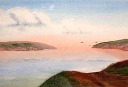 Art: St. David's Bay - sold by Artist Shari Lynn Schmidt