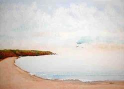 Art: North Beach of Tenby - sold by Artist Shari Lynn Schmidt