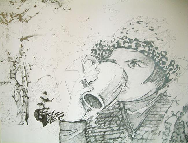 Art: Coffee, Tree and Me by Artist Vic