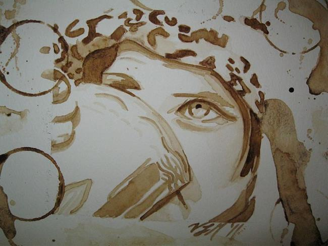 Art: Coffee Stains by Artist Vic Ki Lynn