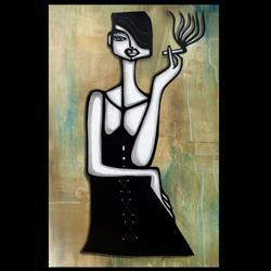 Art: Original Abstract Art Bad Habits by Artist Thomas C. Fedro