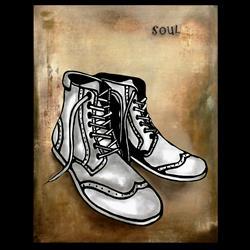Art: Original Abstract Art Soul by Artist Thomas C. Fedro