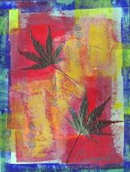 Art: Bright Leaf 1 by Artist Christine Wasankari